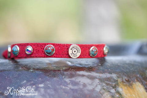 Red Winchester Dog Collar