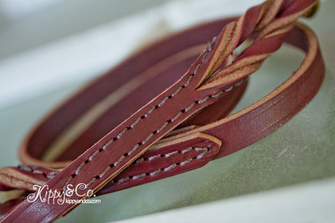 Latigo Leather Braided Leash