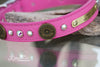 Pink 12 Guage Shotgun Shell Dog Collar with AB Crystals and Personalized Name Plate