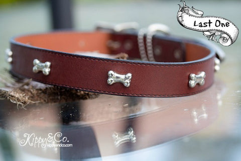 Brown Leather Collar