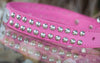 Leather Studded Dog Collar Personalized