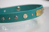 Turquoise Leather With Silver Spots and Earthquoise and 45 Colt Winchester Conchos