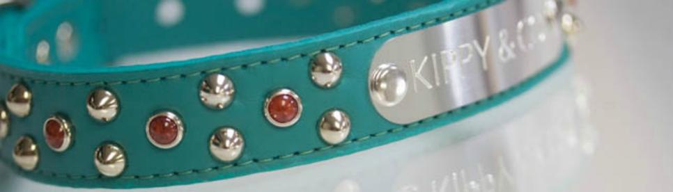 Personalized Leather Collar with Turquoise
