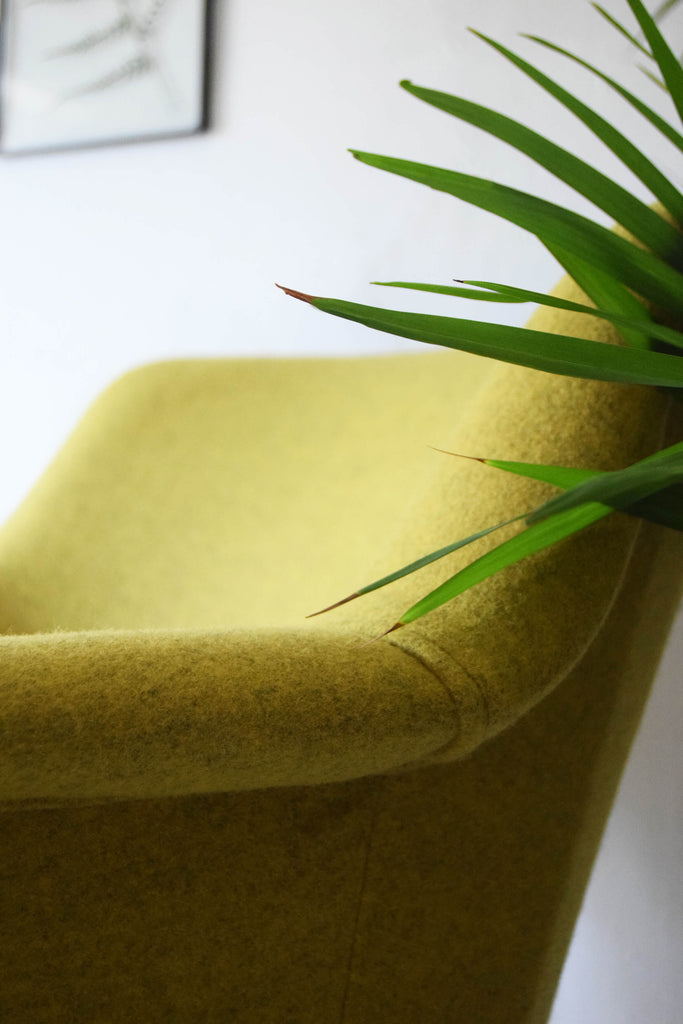 Yellow Wool Armchair