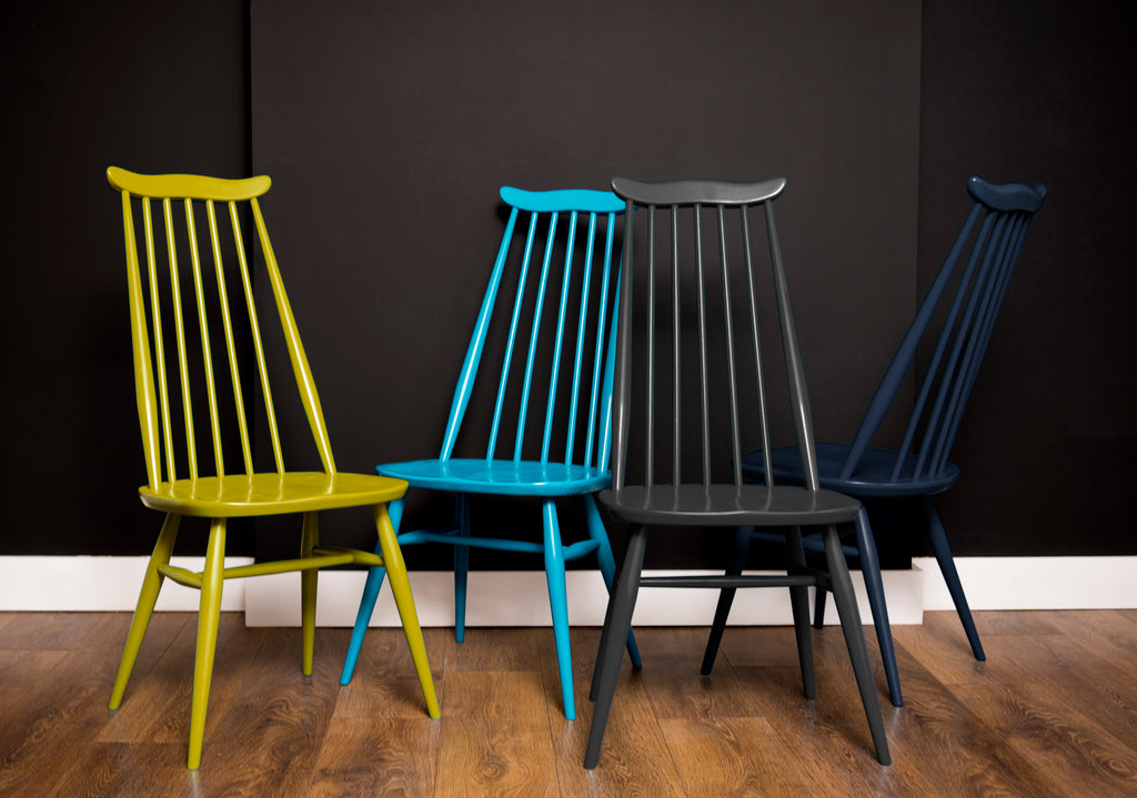 Vintage Colourful Ercol Goldsmith Dining Chairs