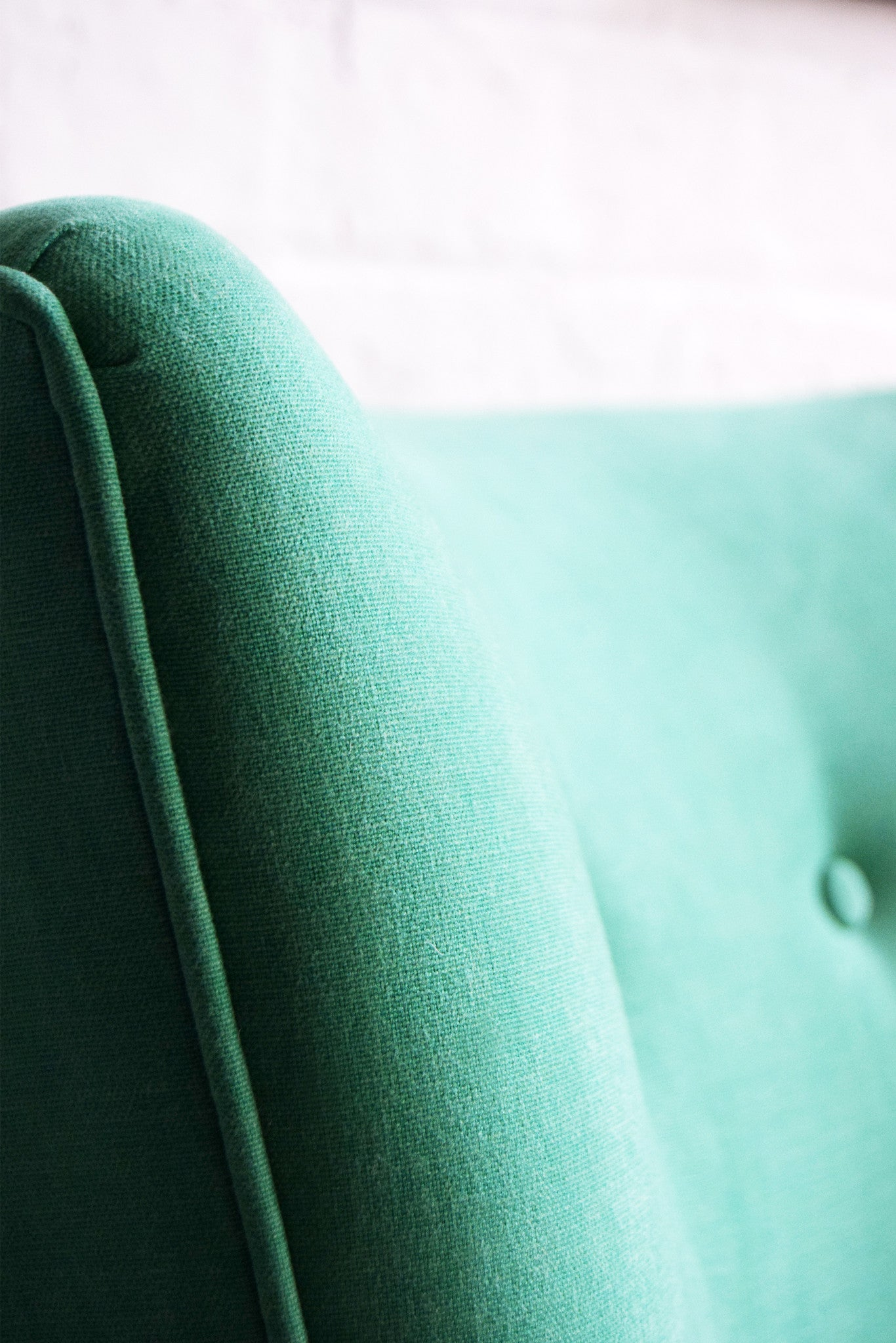 Vintage Green Fabric Cocktail Chair