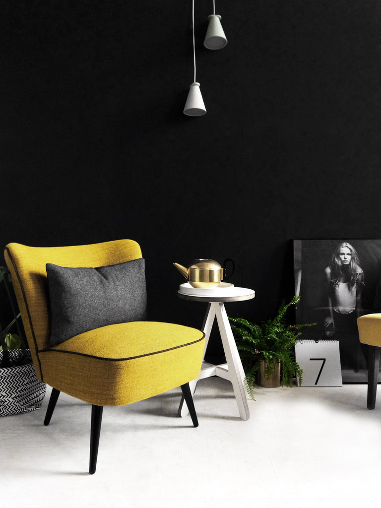 Yellow cocktail chair from Florrie+Bill