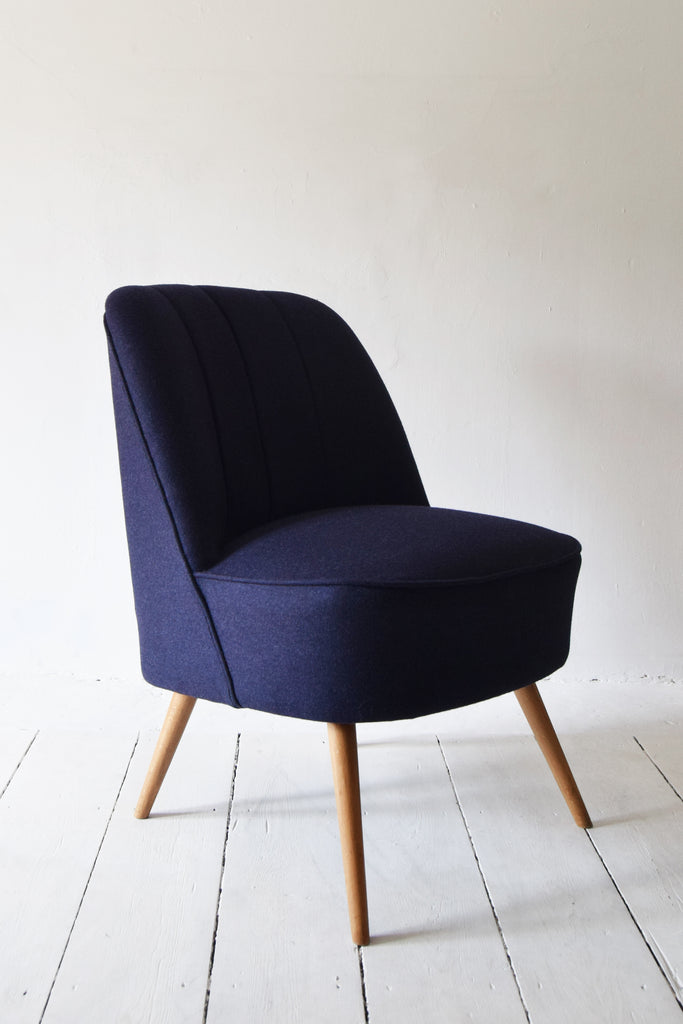 Purple Wool Retro Chair