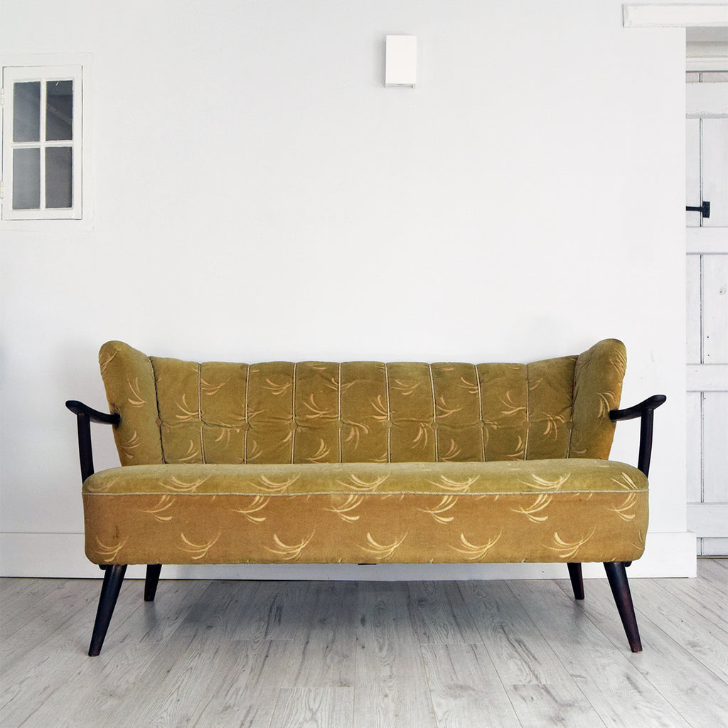 Vintage retro 2 seater sofa for reupholstery Florrie and Bill