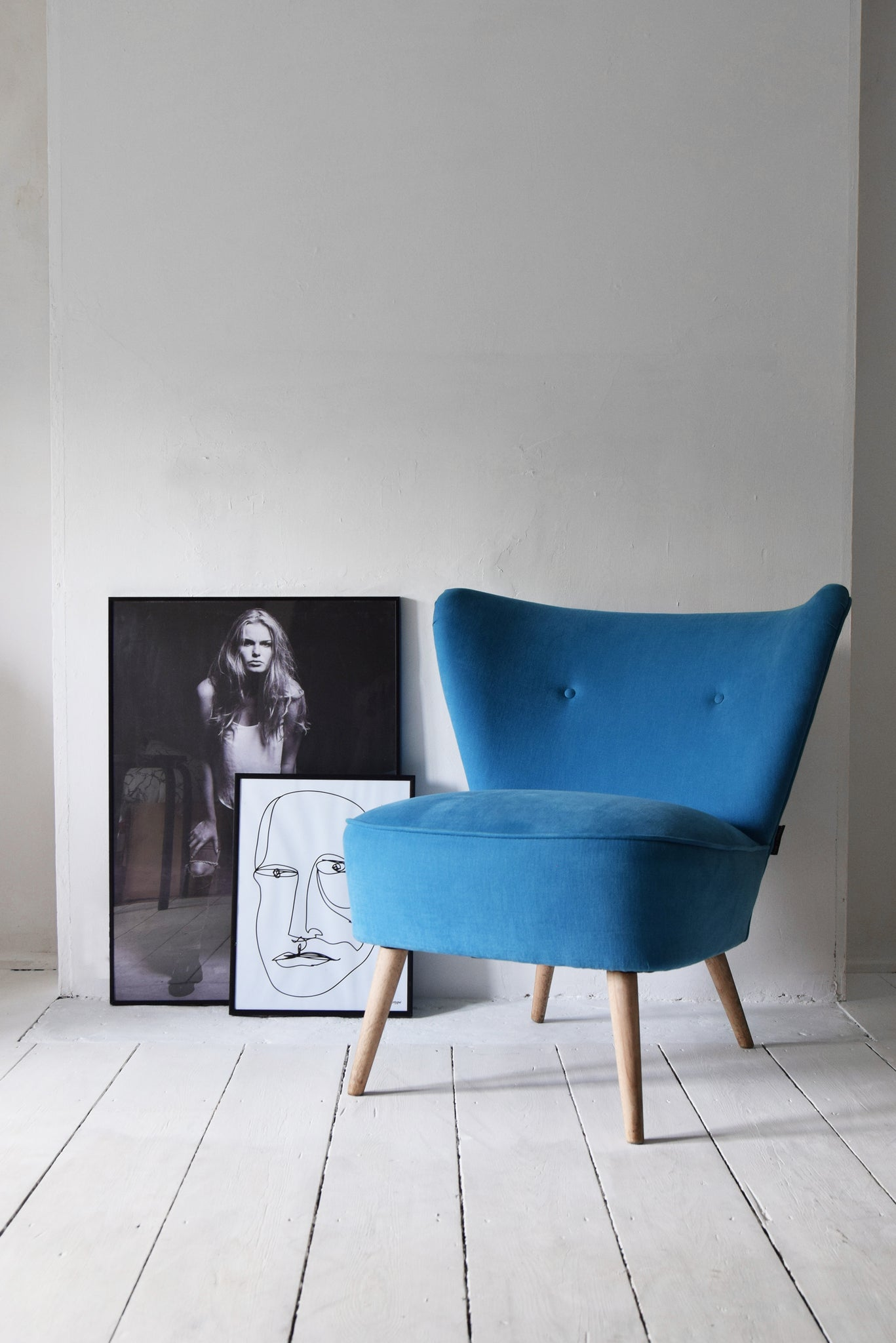 Blue Vintage Cocktail Chair