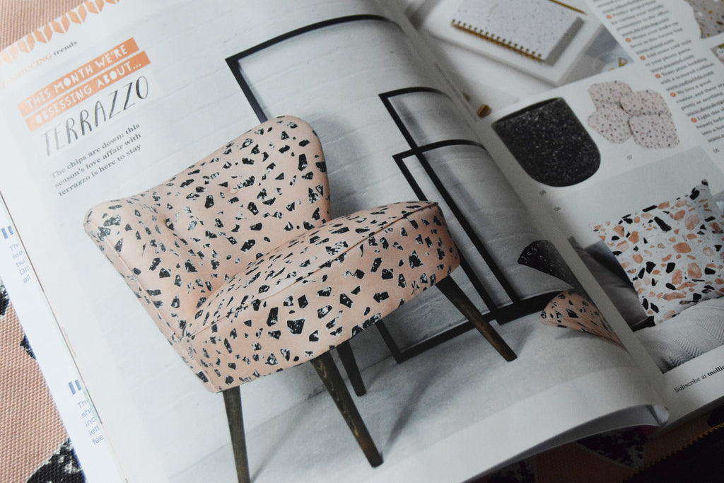 Peach Chips Terrazzo Cocktail Chair