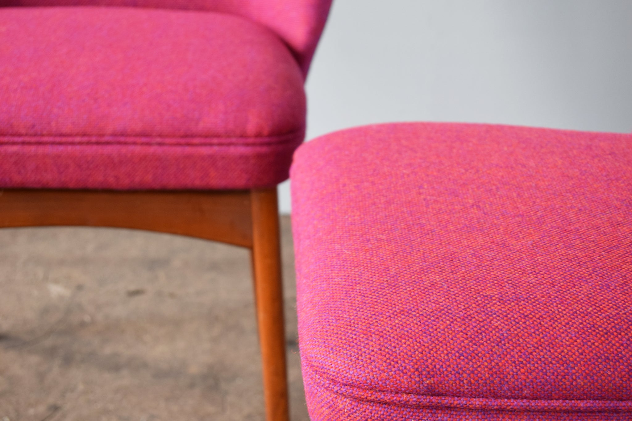 Bute Wool Pink Tweed Benchairs Florrie and Bill