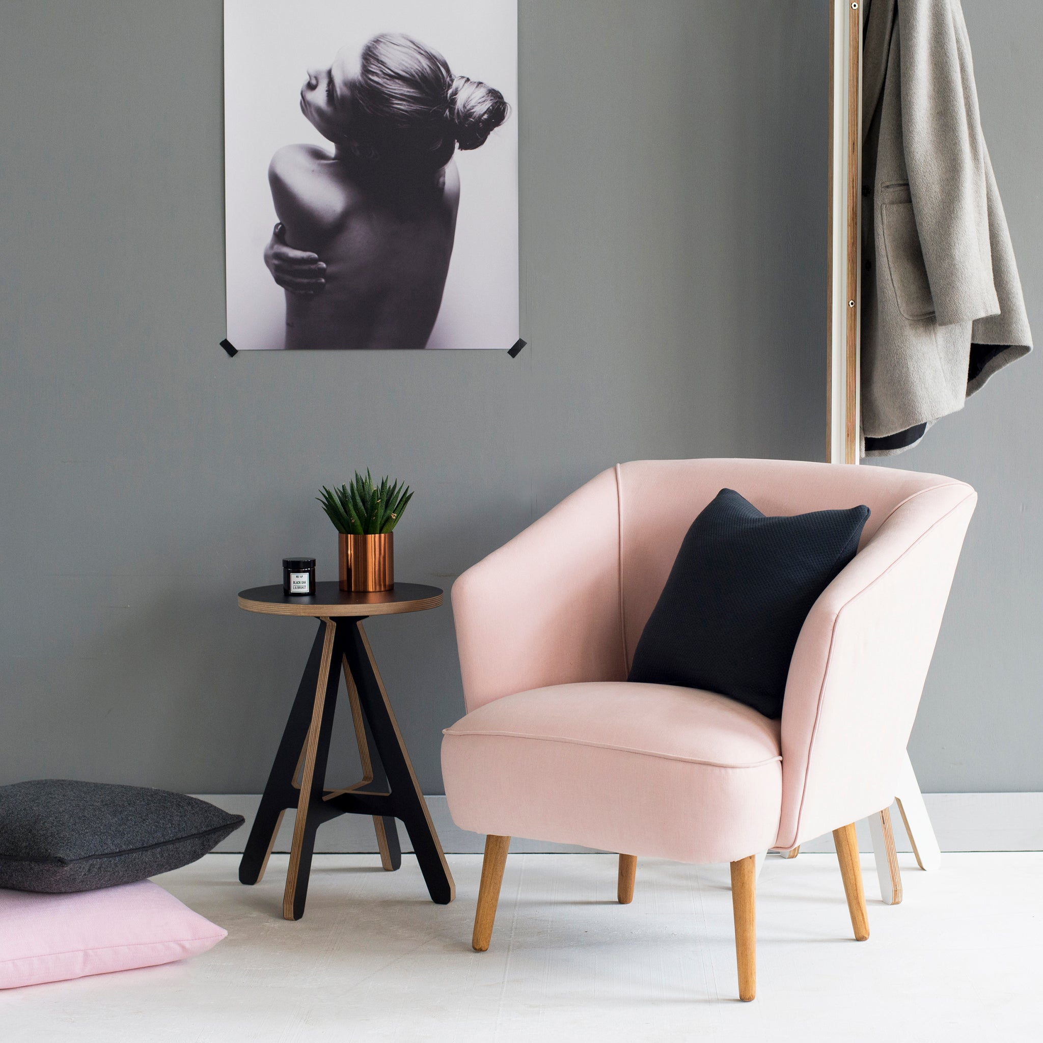 Vintage Blush Pink Armchair From Florrie+Bill