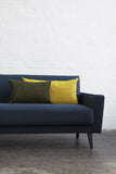 Retro Sofa in Navy Wool - Florrie + Bill