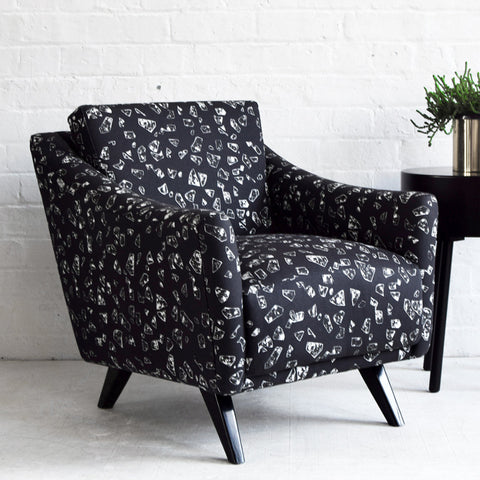 Vintage Armchair CHIPS Black