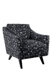 Vintage Armchair in Chips Black By Florrie and Bill