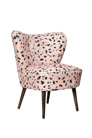 Cocktail Chair in CHIPS Peach Terrazzo Fabric - Florrie + Bill