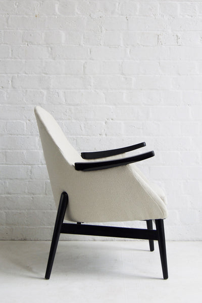 Cream Wool Vintage Armchair by Florrie+Bill