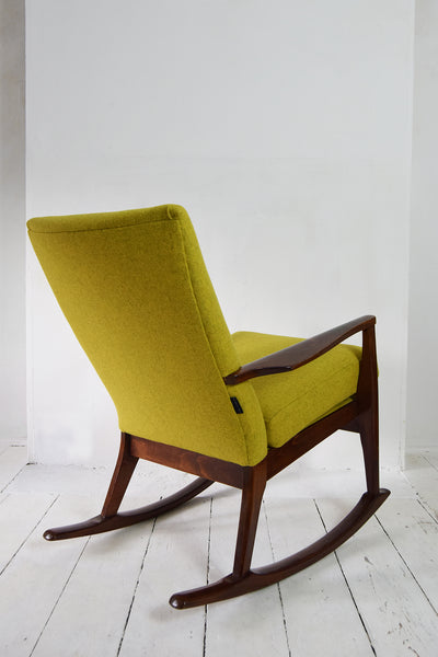 Yellow Wool Parker Knoll Rocking Chair - Florrie + Bill