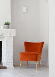 Vintage Cocktail Chair in Orange Velvet from Florrie + Bill