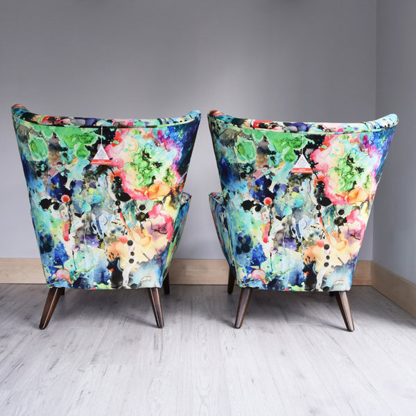 Vintage G Plan Armchairs in Timorous Beasties Velvet - Florrie + Bill