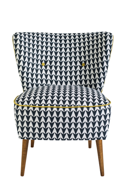 Vintage Cocktail Chair in Navy Florrie + Bill