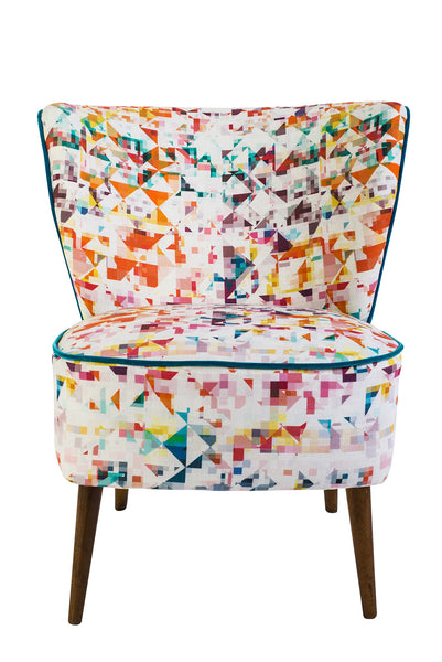 Vintage Cocktail Chair in Northmore Minor Fabric - Florrie + Bill