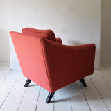 Pink Wool Retro Armchair