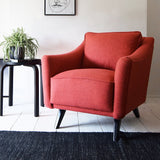 Pink Wool Retro Armchair - Florrie + Bill