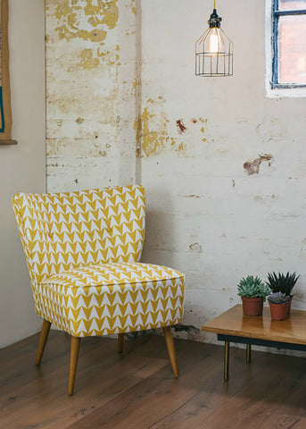 Vintage Cocktail Chair in Aldgate East Mustard Fabric