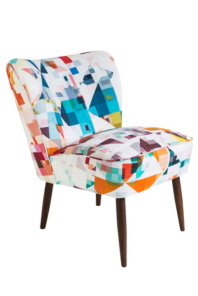 Vintage Cocktail Chair in 'Northmore Major' Fabric - Florrie + Bill