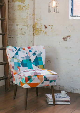 Vintage Cocktail Chair in 'Northmore Major' Fabric