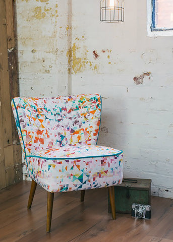 Vintage Cocktail Chair in Northmore Minor Fabric