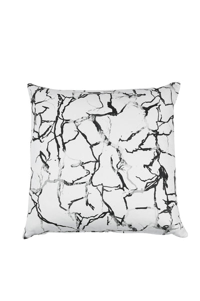 White Fragment Faux Marble Scatter Cushion