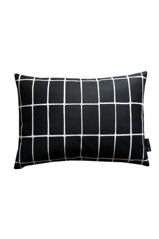 Florrie + Bill Glaze Black Cushion 50 x 35cm Rectangle