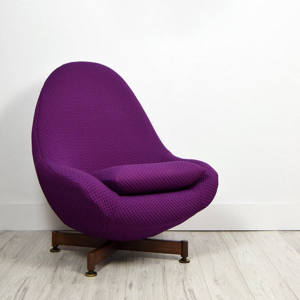RETRO GREAVES & THOMAS EGG CHAIR IN FEBRIK BEANS