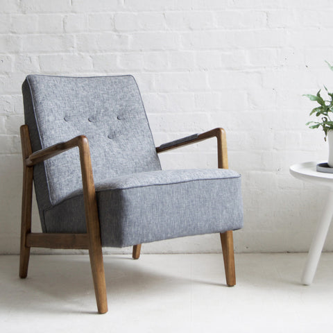 Grey Scandi Retro Chair