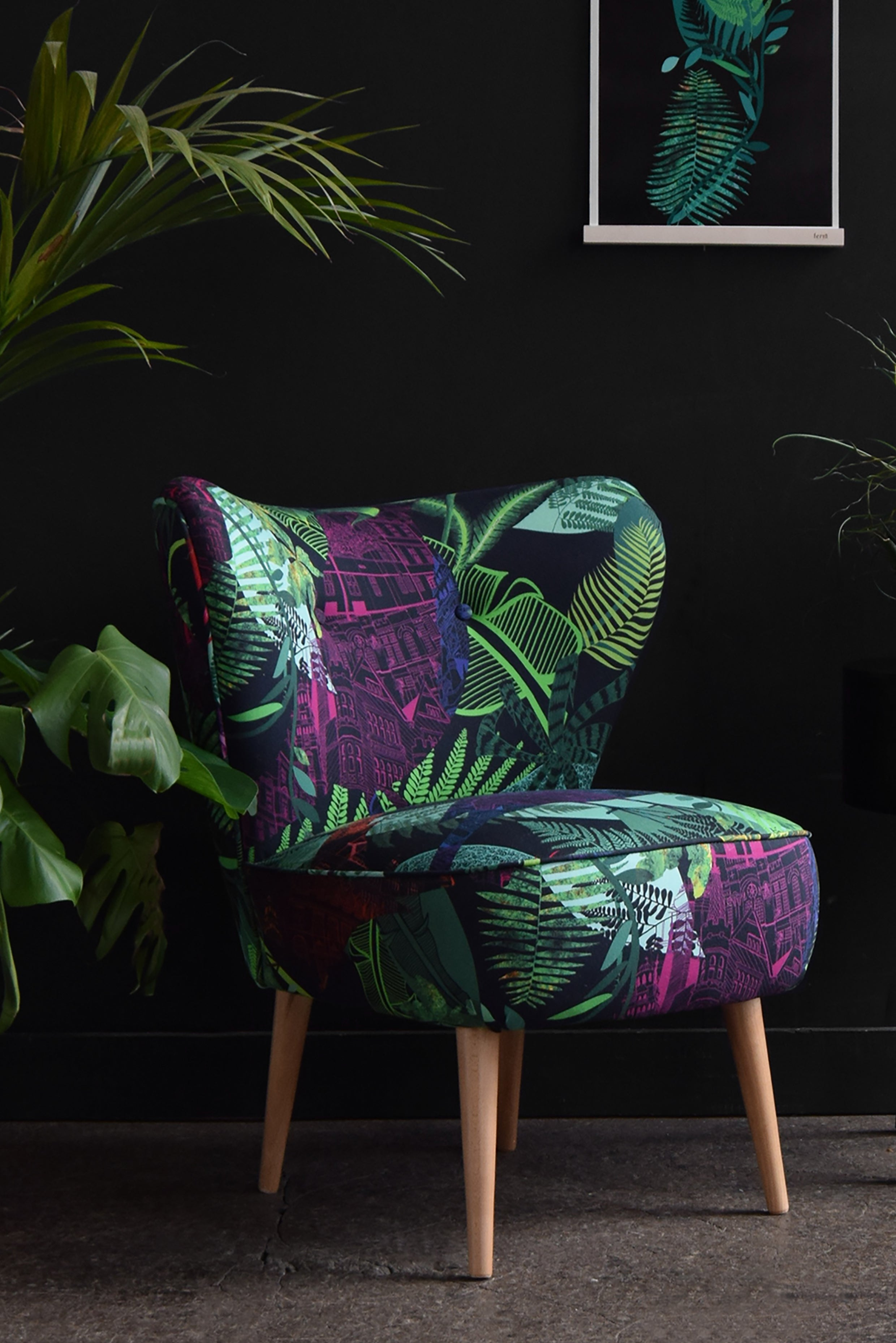 Bespoke cocktail chair for interior designers and home projects