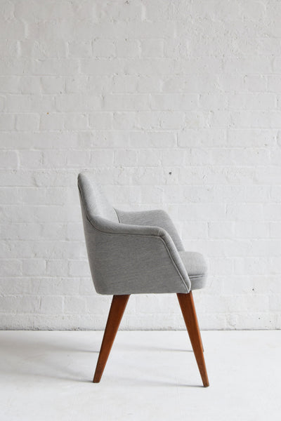 Retro Benchair in Grey Wool