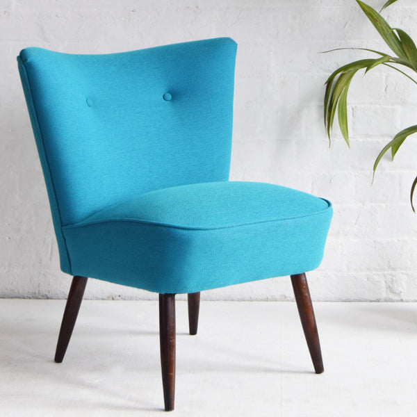 Blue Wool Cocktail Chair