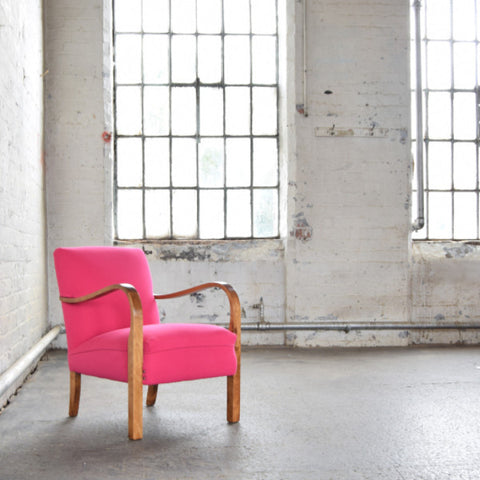 1940s Pink Deco Armchair by Florrie and Bill