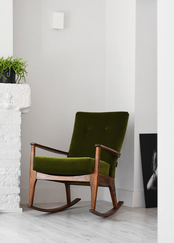 Green Velvet Parker Knoll Rocking Chair - Florrie + Bill
