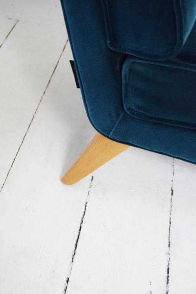 Teal Velvet G Plan E-Gomme Chair - Florrie + Bill