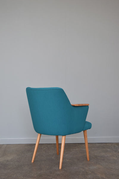 Vintage German Tub chair in Febrik Pitch by Florrie and Bill