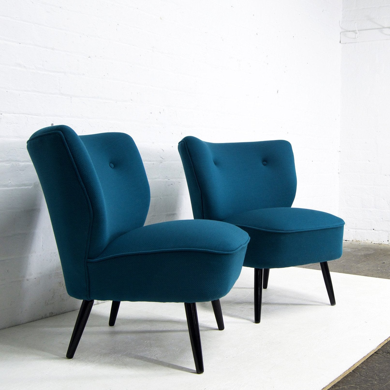 Febrik Textile Cocktail Chairs in Teal from Florrie and Bill