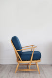 Ercol 334 Chair in Teal Felted Wool - Florrie + Bill