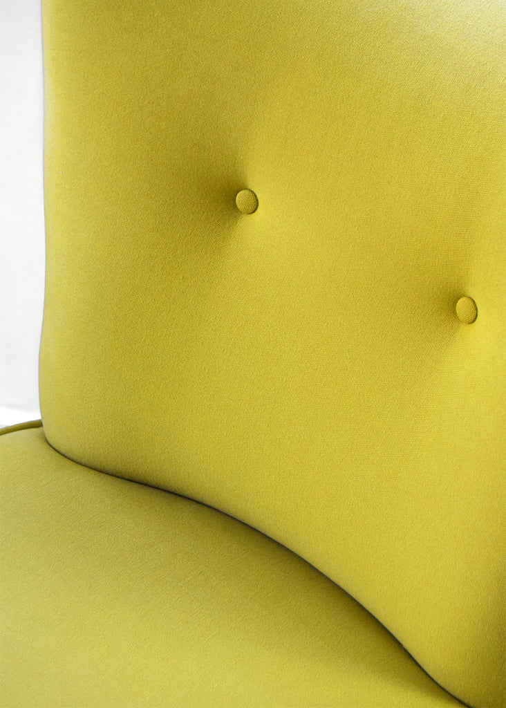 Vintage G Plan Cocktail Chair in Yellow Fabric restored by Florrie + Bill