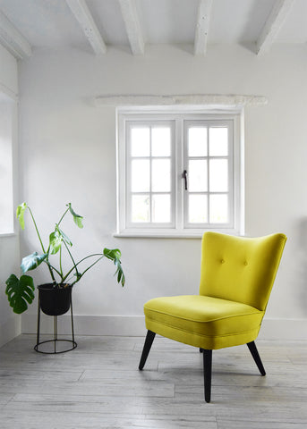 Yellow Vintage G Plan Cocktail Chair 404 Easy Chair by Florrie + Bill
