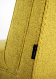 Mustard Yellow wool vintage retro chair by Florrie + Bill