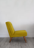 Yellow Wool Vintage Lounge Chair - Florrie + Bill